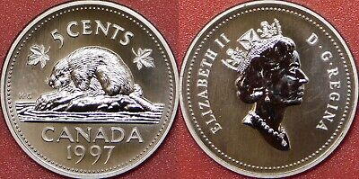 Specimen 1997 Canada 5 Cents From Mint's Set