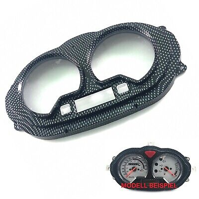 TACHO GLAS CARBON OPTIK z.B. CHINA ROLLER SCOOTER MOPED ZN50 WY50 YY50 GY6