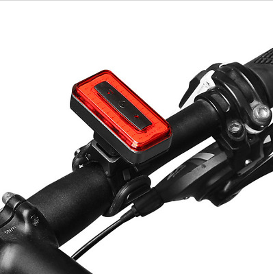 MTB Bike Bicycle Rear Tail Light COB LED Safety Back Lamp USB Rechargeable Cycle