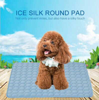 Soft Pet Soft Summer Self Cooling Mats Dog Sleeping Pad Ice Silk Mat Blanket CP1