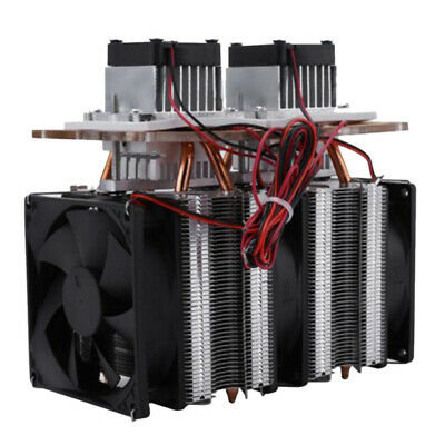 144W Dual-core Semiconductor Refrigeration Peltier Air Cooler Cooling Device
