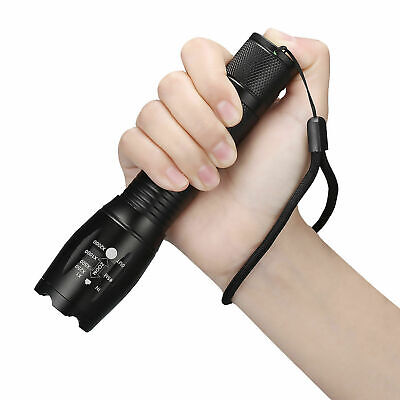 Tactical 18650 Flashlight Ultrafire T6 High Powered 5Modes Zoomable Aluminum