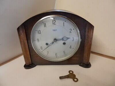 VINTAGE SMITHS ENFIELD MANTEL CLOCK with Key Circa 1930s