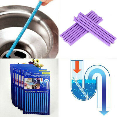 10 Pack Medic Sticks Drain Cleaner Odour Remover Kitchen Bath Tub Sink
