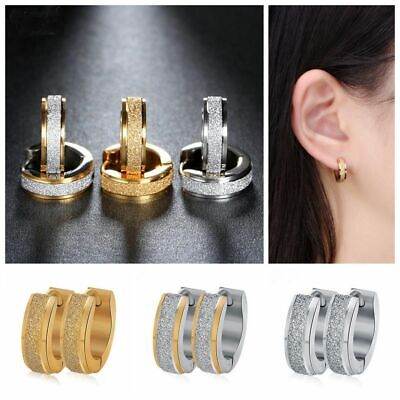 Solid Classic Hoop Ring Earrings Lip Ear Nose Body Piercing Hoop Earrings Punk