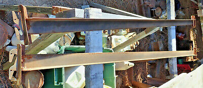 """Set Double Hook, Steel Bed Rails Fitd both Full and Twin Size  75-76"""" length"""