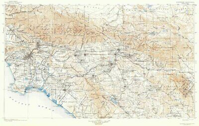 1901 Topo Map of Southern California