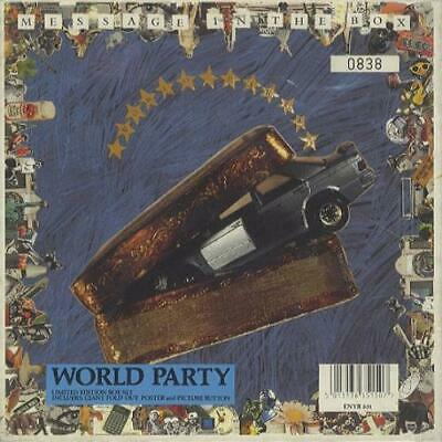 """World Party Message In The Box 7"""" box set UK ENYB631 ENSIGN 1990"""