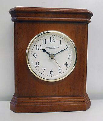 New London Small Mahogany Mantle Clock