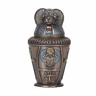 "Pacific Giftware Bronze Ancient Egyptian Hapy Canopic Jar Home Decorative 5.75""H"