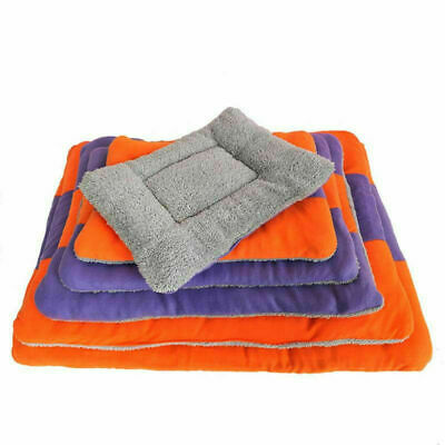 Soft Warm Blanket Large Pet Dog Cat Fleece Bed Cushion Mat Pad Kennel Crate Cozy