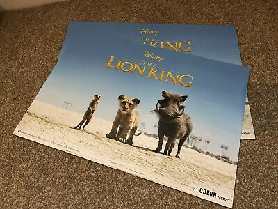 THE LION KING A3 Odeon Posters Disney 2019 Exclusive Movie Film Collectable