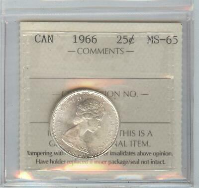 1966  25 cent MS 65. coin.