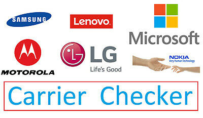 IMEI Carrier Checker/Check for Samsung/Lenovo/Microsoft/Motorola/LG/Nokia Phones