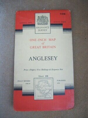 Ordnance Survey Map Seventh Series Sheet 106 Anglesey