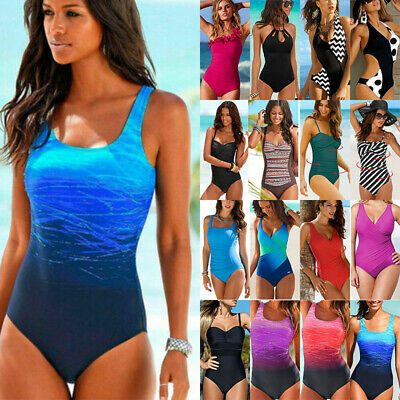 Women's One Piece Bikini Monokini Swimwear Bathing Suit Swimsuit Beach Plus Size
