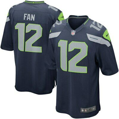 New Men's Nike NFL 2019 Seattle Seahawks 12th Man Twelve #12 Game Edition Jersey