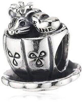 "Authentic Pandora ""Be Mine"" Enchanted Mouse Sterling Silver Charm 791107 NEW"