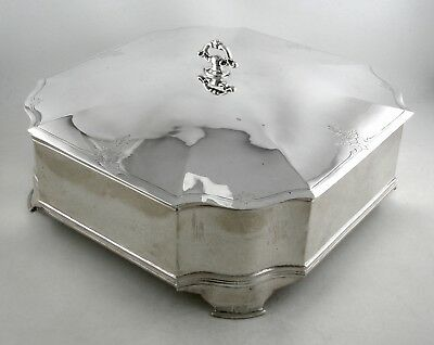 Sterling Jennings Silver Co. lidded and footed box