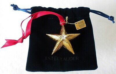 Estee Lauder Holiday Star Ornament Solid Perfume Compact (Empty Pure White Linen