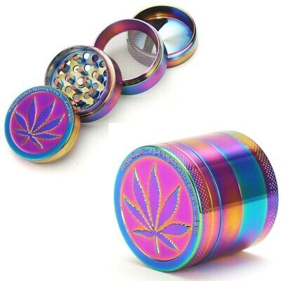 Tobacco Leaf Grinder Herb Crusher Spice Herbal Grinding Machine Rainbow Metal