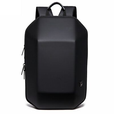 Backpack Men Hard Shell Backpack Waterproof Anti Theft Travel Bags Black School