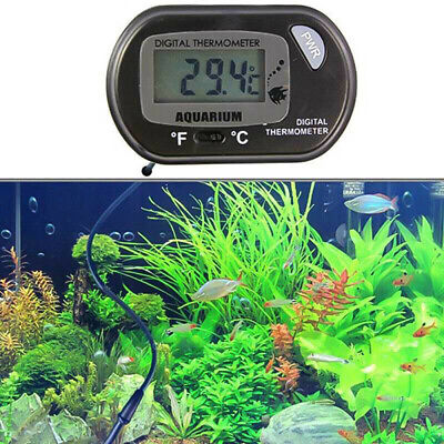 LCD Digital Water Meter Thermometer Temperature For Fish Tank Reptile Aquarium