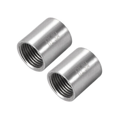 Stainless Steel 304 Cast Pipe Fittings Coupling Fitting 1/2 x 1/2 G Female 2pcs