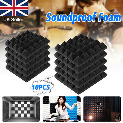 UK Acoustic Foam Panel Sound Stop Absorption Sponge Studio KTV Soundproof Lot