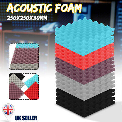 UK Acoustic Wall Panels Sound Proofing Foam Pads Studio Treatments KTV Tool Room