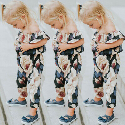 UK Seller Toddler Infant Baby Girl Kid Jumpsuit Romper Playsuit Clothes Outfit