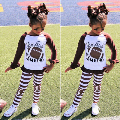2pcs Toddler Kids Baby Girl Clothes Shirt Blouse Tops+Pants Tracksuit Outfit Set