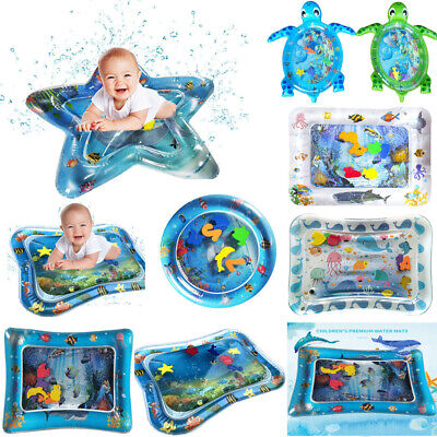 Inflatable Tummy Time Water Mat Sea Multi-Shape Infants Toddlers Play Mat Toys