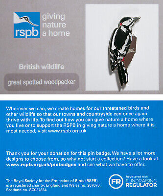 RSPB Pin Badge | great spotted woodpecker GNAH (01561)