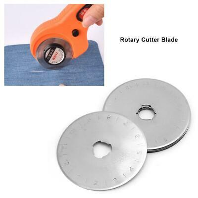 10× 45mm Rotary Cutter Refill Blades for Cutting Leather Fabric Paper Craft Tool