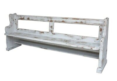 Large Antique Church Pew - Painted Finish - Pitch Pine Traditional Pew