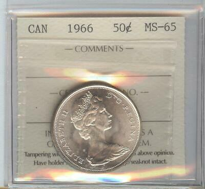 1966 MS 65  50 cent coin.