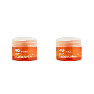 2 PCS Origins GinZing Refreshing Eye Cream to Brighten and Depuff 0.5oz, 15ml