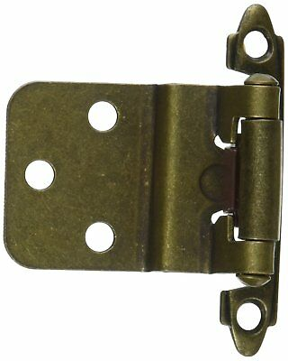 Hardware House 64-4492 Contractor Pack Inset Cabinet Hinge, Antique Brass 8Pack