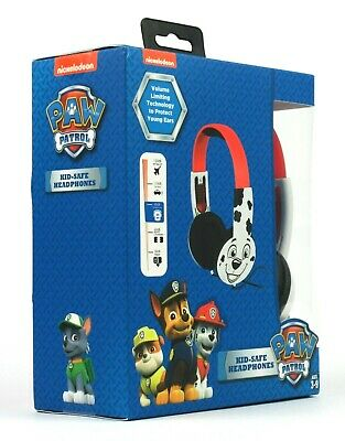 NEW Nickelodeon Kids Paw Patrol Marshall Headphones | Built-in Safe Technology