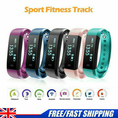 Smart Bracelet Watch Fitness Activity Tracker Monitor Pedometer For Child Adult