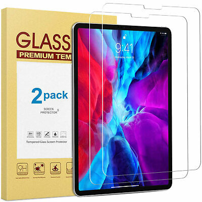 "2 PCS Tempered Glass Screen Protector for iPad Pro 12.9"" 11"" 10.5"" 10.2"" 9.7"""