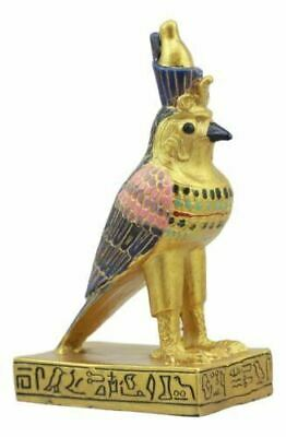 "Polyresin Egyptian God Of The Sky & War Horus Falcon Dollhouse Mini Statue 3.5""H"
