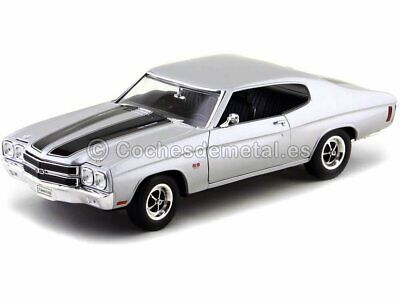 1970 Chevrolet Chevelle SS 454 Plata 1:18 Welly 19855
