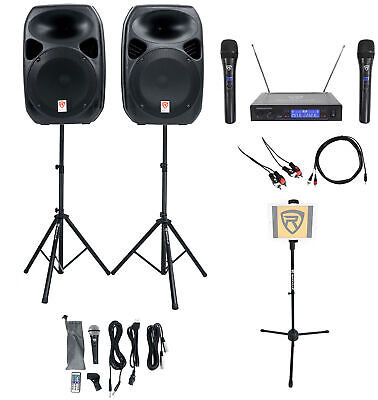 "Rockville Dual 12"" Android/iphone/ipad/Laptop/Tablet Pro Karaoke Machine/System"