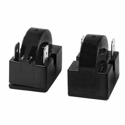 2 Pcs Black Plastic Shell 22 Ohm PTC Starter Relay for Freezer