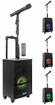 Technical Pro WASP810B Rechargeable Bluetooth Karaoke Machine System+Mic w/Stand