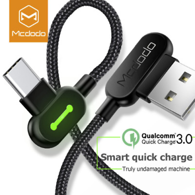 MCDODO 90° Elbow Braided Heavy Duty Micro USB Sync Charger Samsung S10 Plus S9