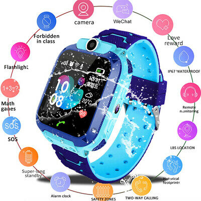 Waterproof Kids Smart Watch Anti-lost Safe GPS Tracker SOS Call For Android iOS=