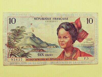 1964 French Antilles 10 Francs Note
